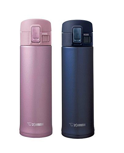 Zojirushi Stainless Steel Mugs Smoky Blue Lavender Pink