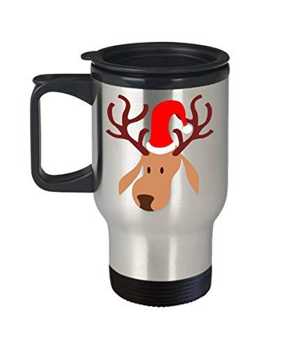 Reindeer Travel Coffee Mug Funny Christmas Coffee Travel Mug Holiday Travel Coffee Mug Reindeer Lover Santa Travel Mug
