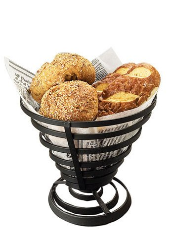 American Metalcraft FCD2 Wrought Iron Flat Coil Slanted French Fry Basket 7-Inch