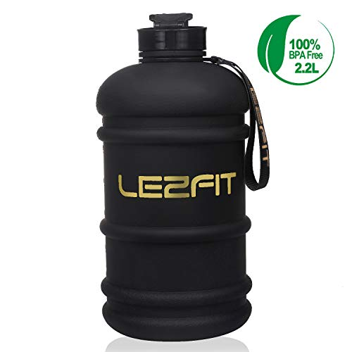 LEZFIT Water Jug 22L Big Water Bottle Large Capacity BPA Free Leakproof Half Gallon Sport Water Bottle for Gym Fitness Athletic Bicycle Camping