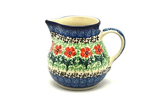 Polish Pottery Creamer - 4 oz - Maraschino