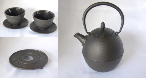 Cast Iron Teapot Tetsubin 6 Piece Set Mochi 236 Ounces  07 Liter
