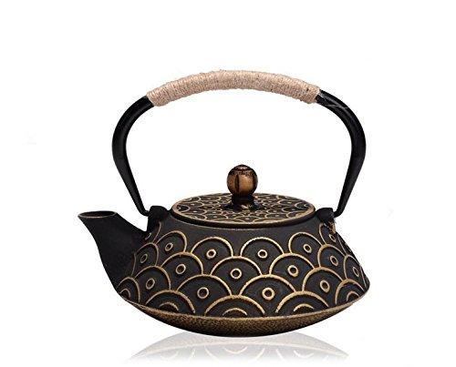 RUIKA Japanese tetsubin Cast Iron Teapot Gold Fish scales Kettle 800ml 27 Ounce