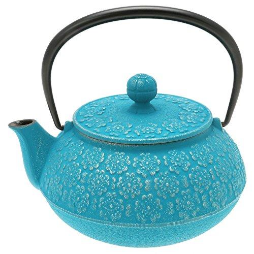 Iwachu 480-944 Japanese Iron Tetsubin Teapot Turquoise
