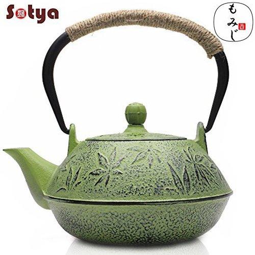 Sotya Cast Iron Teapot Japanese Tetsubin Tea Kettle Durable Cast Iron with a Fully Enameled Interior