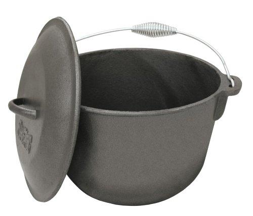 Bayou Classic 7406 6-Qt Cast Iron Soup Pot with Cast Iron Lid