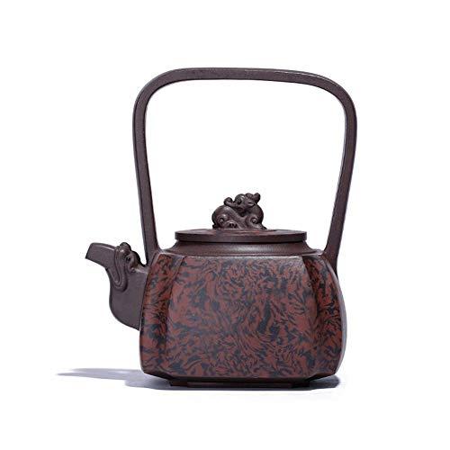 MADONG Ti Liang Zi Shahu tea Jiaonichoujiao Quartet dragon teapot ore Color  Black