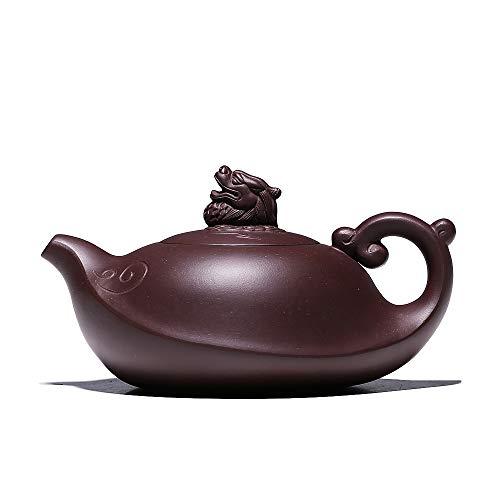 Yipot teapot-Chinese Yixing Handmade Pure Clay Zisha Teapot Dragon Tea Pot 95 OZ Top Zi Ni