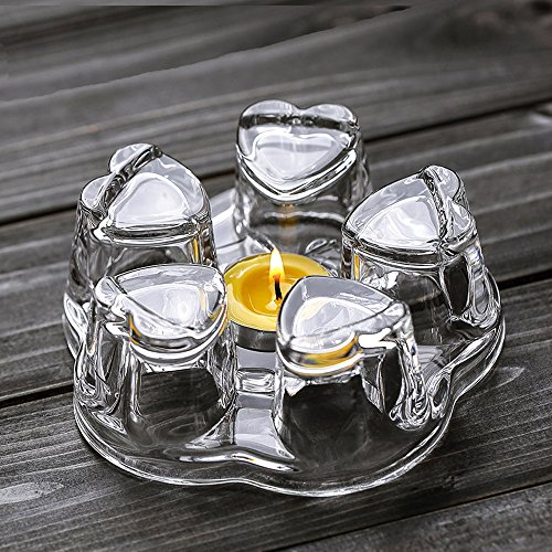 TAMUME Crystal-Clear Glass Teapot Warmer Stable Holder for Tealight Stand for Teapot 400-1200ml - Large White