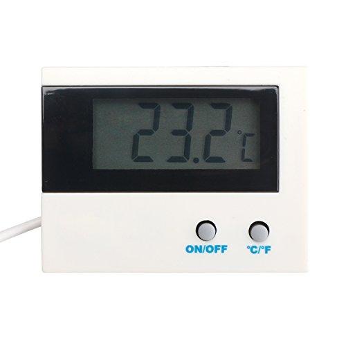 Refrigerator Temperature Monitor Gauge DROK Digital Electronic Thermometer Celsius Fahrenheit -50°c~80°c-58oF~176oF Temp Tester Panel Waterproof Sensor for Aquarium Refrigerator Freezer Pantry