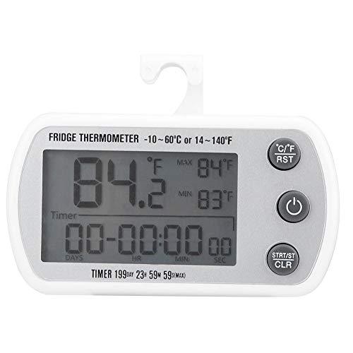 Fdit LED Digital Waterproof Refrigerator Freezer Thermometer Temperature Fridge Freezer Alarm Refrigerator Thermometer