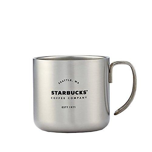 Silver Starbucks Coffee Company Handle Mug 12 oz