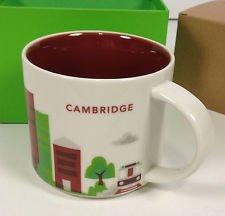 Starbucks Coffee Mug You Are Here Collection Cambridge MA 14 Oz