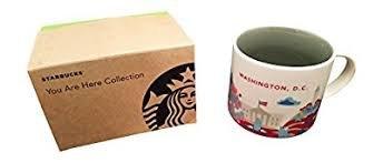 Starbucks Washington DC You Are Here Collection Ceramic Coffee Mug 14 Ounce with Gift Box