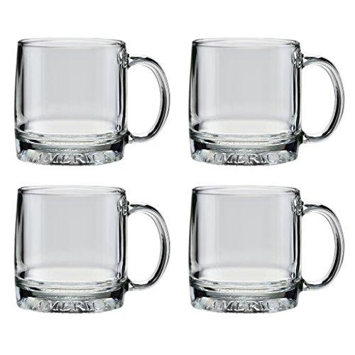 Culver Mug America Glass Mug Made in the USA Patriotic American Eagle Design Set of 4 Mugs 12-Ounce