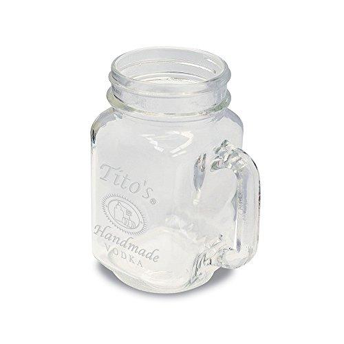 Titos Vodka Mason Jar Moscow Mule Glass Mug  Set of 2