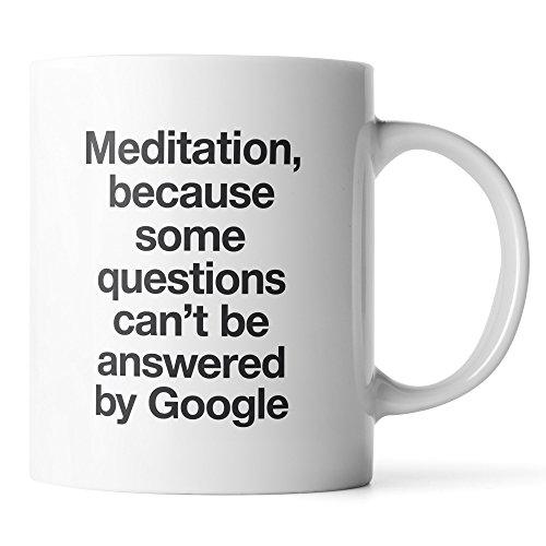 Meditate Mug Yoga Gift For Women And Men Meditation Inspirational Quote Mug White Ceramic Coffee Mug 11oz