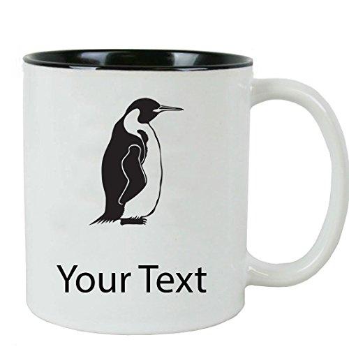Personalized Custom Penguin 11 oz White Ceramic Coffee Mug with White Gift Box