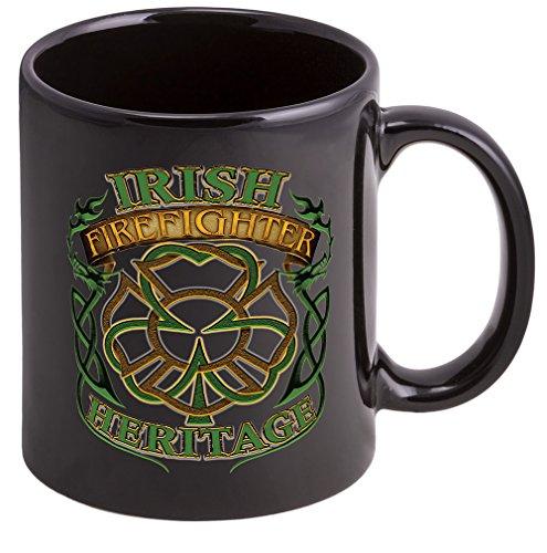 Coffee Cup with Irish Heritage Logo Stoneware Mug Firefighter Gifts