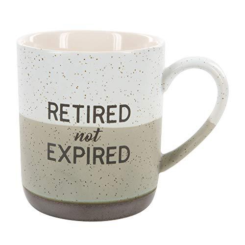 Pavilion Gift Company 23513 Large 15 Oz Stoneware Coffee Cup Mug Retired Not Expired 15oz Grey