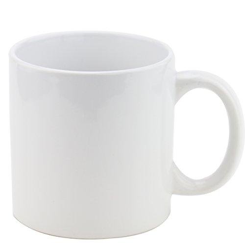 FINEST HOMEWARE White Porcelain Coffee Mug Kit with Handle Pure Milk Tea Cup Elegant Christmas GiftSet of 6pcs12oz Each