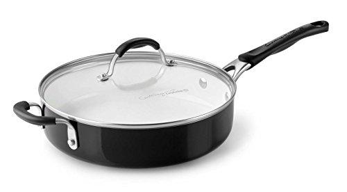 Calphalon Ceramic Nonstick Cookware Saute Pan with Lid 3 qt Black