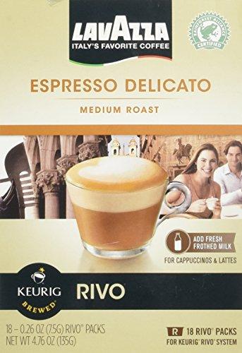 Lavazza Espresso Delicato Medium Roast for Keurig Rivo System 18-026 0z 2 pack