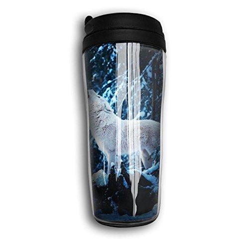 Snow Wolf Funny Coffee Mug Custom Tea Cup Insulated Travel Mug Christmas Present 350ml