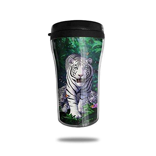 White Tiger Family Lovely Coffee Mug Custom Tea Cup Insulated Travel Mug Christmas Holiday Gift 250ml
