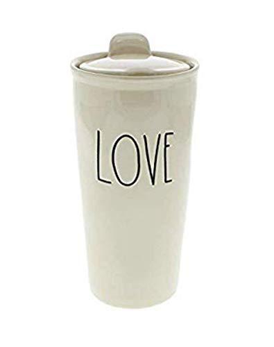 Rae Dunn By Magenta LOVE Large Letter LL Ceramic Travel Tumbler Mug