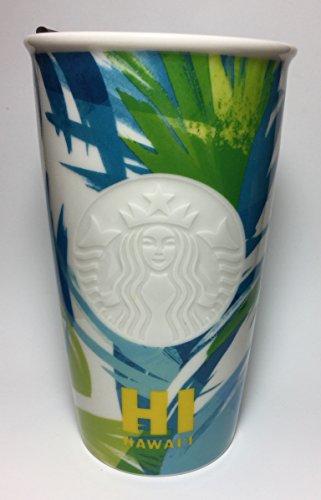 Starbucks 2016 Dot Collection Hawaii Limited Ceramic Travel Tumbler  Mug