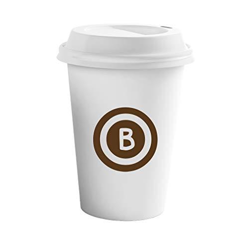 Style In Print Brown B Dial Tone Initial Monogram Letter B Ceramic Coffee Tumbler Travel Mug