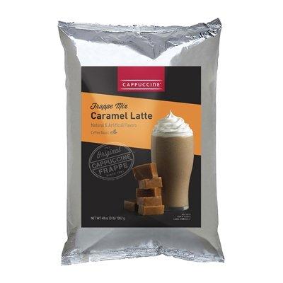 Cappuccine Caramel Latte Gourmet Blended Frappe 3lb Bag by Cappuccine