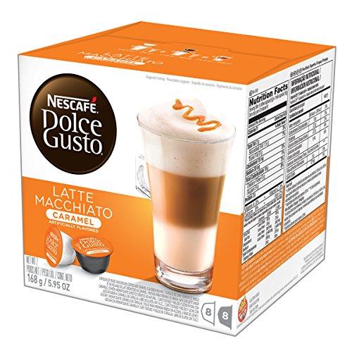 NESCAFÉ Dolce Gusto Coffee Capsules – Caramel Latte Macchiato – 48 Single Serve Pods Makes 24 Specialty Cups 48 Count