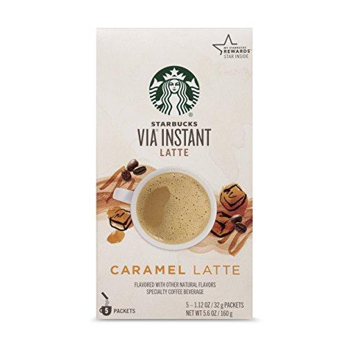 Starbucks VIA Instant Coffee Caramel Latte 5 Count