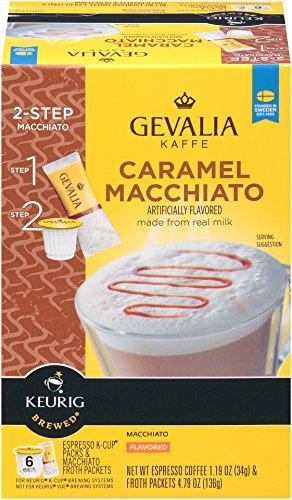 GEVALIA Caramel Macchiato Latte Coffee K-CUP Pods 598 oz 6 Count