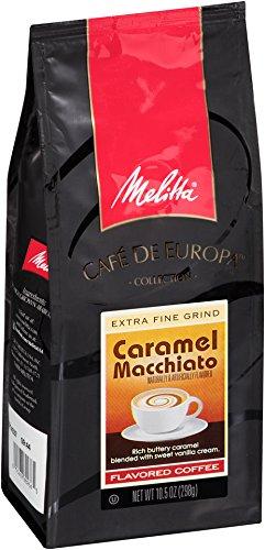 Melitta Café de Europa Gourmet Coffee Caramel Macchiato Ground Flavored 105-Ounce