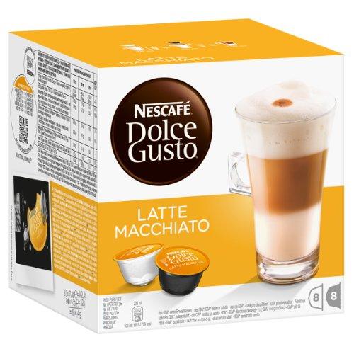 Nescafe - Dolce Gusto - Latte Macchiato Coffee Pods 8 Drinks - 1944g