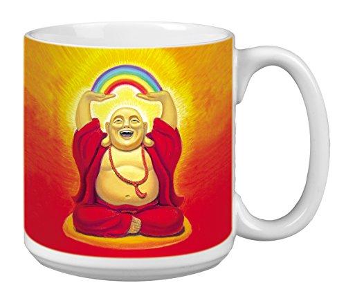 Buddha Extra Large Mug 20-Ounce Ceramic Coffee Mug Cup Buddha Laughing Themed Zen Art - New Age Inspirational Gifts XM29492 Tree-Free Greetings