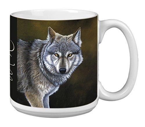 Classic Wolf Extra Large Mug 20-Ounce Jumbo Ceramic Coffee Mug Cup Animal Themed Wildlife Art - Gift for Wolf Lovers XM29736 Tree-Free Greetings