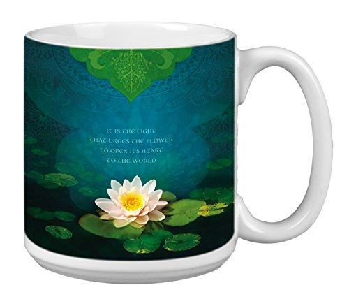 Inspirational Lotus Extra Large Mug 20-Ounce Jumbo Ceramic Coffee Mug Cup Bouquet Of Light Themed Inspiring Quote Gift XM29555 Tree-Free Greetings