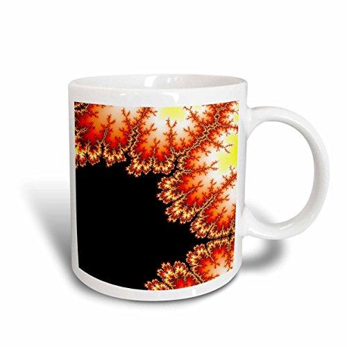 3dRose Fractal Frosted Autumn Mug 11-Ounce