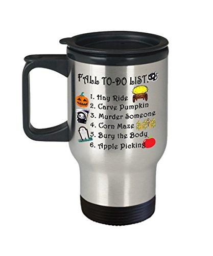 Autumn Mug Fall to do list Funny Office Work Pumpkin Travel Coffee Mugs Best Halloween Costumes Set Gifts Idea for mens womens boys girls