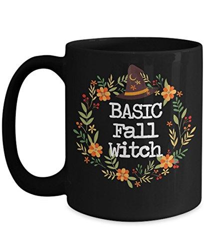 Fall Mug - Autumn Mug - Basic Witch - Funny Mug For Girls - Witches Brew Coffee Mug - Halloween Mug - Black Coffee Mug