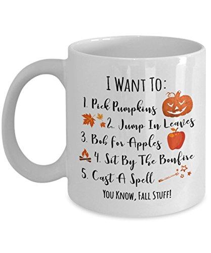 Fall Things Coffee Mug - Gift for Halloween - Autumn Mug - - 11 Oz Or 15 Oz Ceramic Coffee Mug Tea Cup