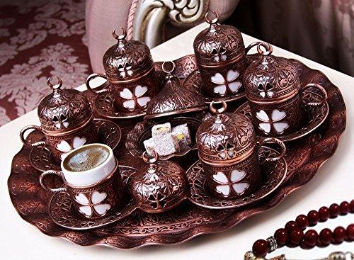 27 Pcs Ottoman Turkish Greek Arabic Coffee Espresso Serving Cup Saucer Gift Set
