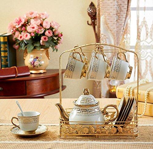 OLQMY-European Tea Set Tea Cup Set Wedding Gift Ceramic Coffee SetB