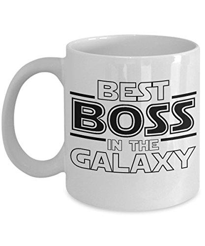Best Boss in the Galaxy White Ceramic Tea or Coffee Mug - Unique Star Wars Themed Fan Gift