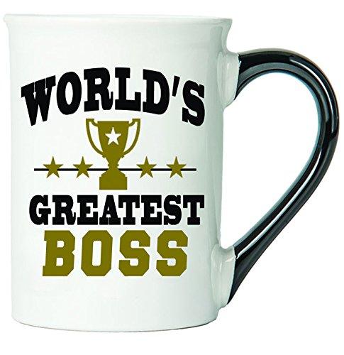 Cottage Creek Boss Mug Large 18 Ounce Ceramic Worlds Greatest Boss Coffee MugBoss Gifts Boss Appreciation White