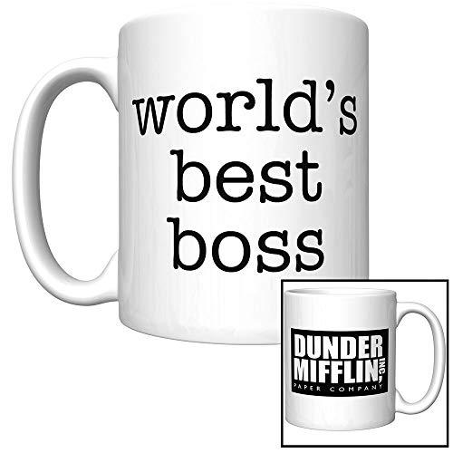 Worlds Best Boss Coffee Mug With Original Series Font
